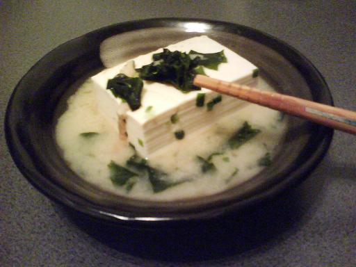 豆腐の味噌煮込み 和布と葱和え