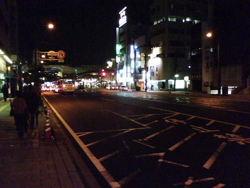 横川駅前バス停から横川駅方面
