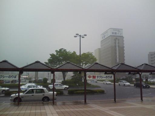 集中豪雨@東広島駅
