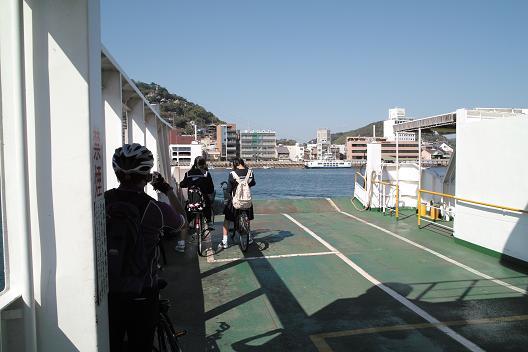 向島→尾道渡航中