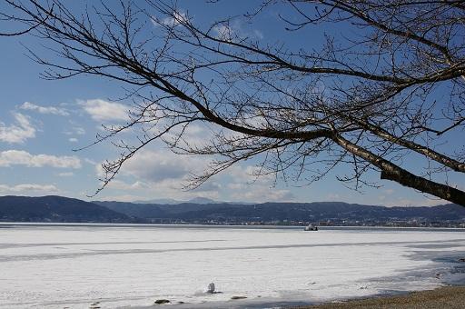 今年の諏訪湖見納め。