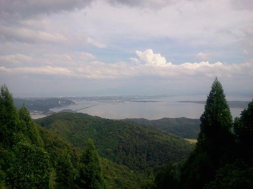 枕木山から中海眺望