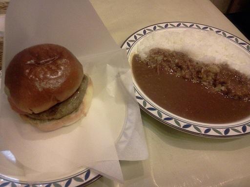 カレー&ハンバーガーセット