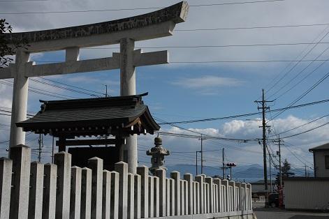速谷神社鳥居から宮島方向